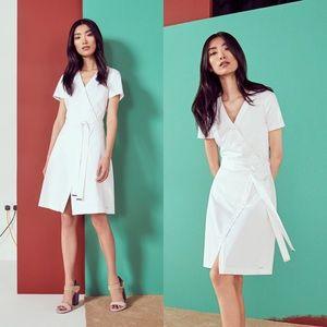 •Ted Baker• Advina Cotton Crossover Dress White 0